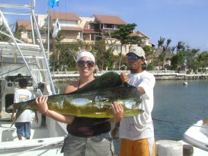 My Sister in Law with hr Mahi-Mahi
