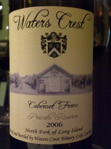 Waters Crest 2006 Cab Franc
