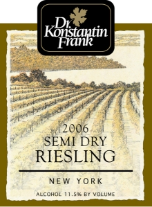 Dr. Frank Semi Dry Riesling