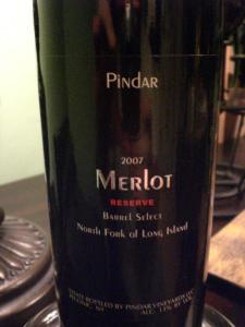 Pindar Reserve Merlot